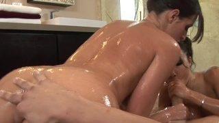 Asa Akira & Kortney Kane – Threesome Surprise blowjob