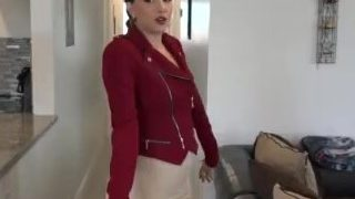 Brunette MILF no panty upskirt pussy flashing under a tight too short skirt