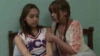 Amber Chase seducing Sara Luvv